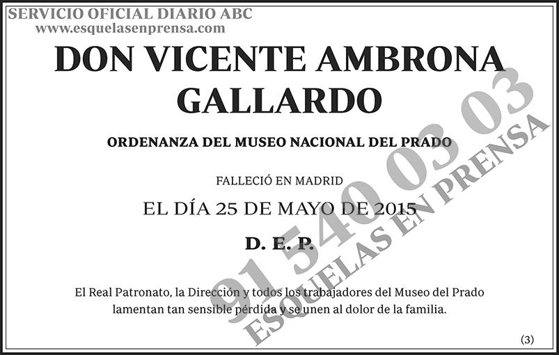Vicente Ambrona Gallardo